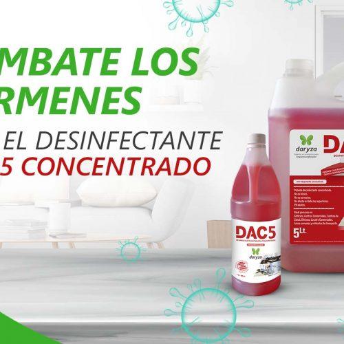 Combate los gérmenes con el desinfectante DAC5 concentrado